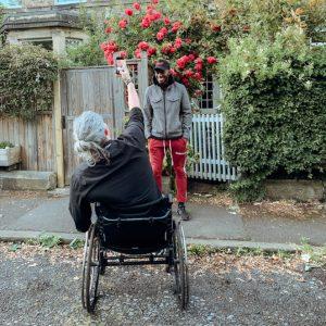 Gardening from a wheelchair
