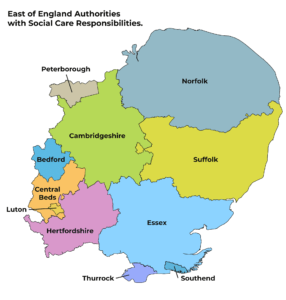 East of England Authorities with Social Care Responsibilities